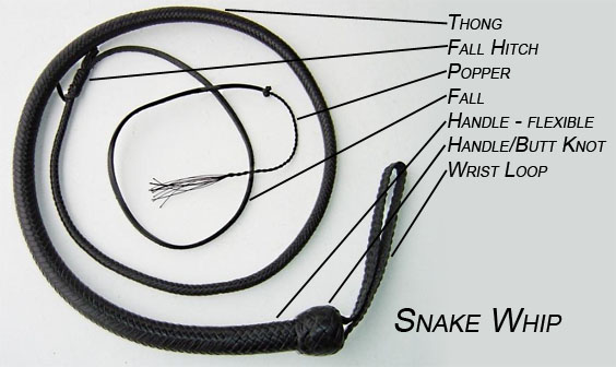 Parts of a Whip Snake Whip