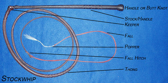 Parts of a Whip Stockwhip